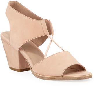 Eileen Fisher Doe Low-Heel Nubuck Sandals