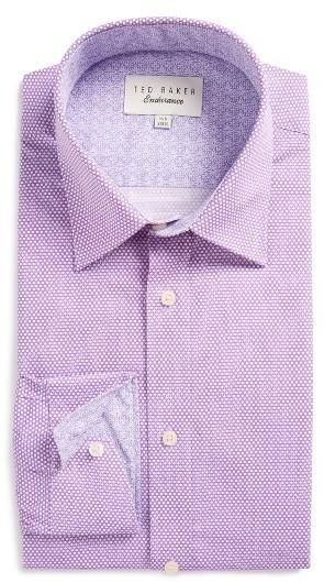 Men's Ted Baker London Carver Trim Fit Geometric Dress Shirt 4