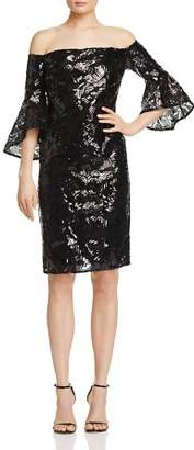 Laundry by Shelli Segal Sequin Off-The-Shoulder Dress