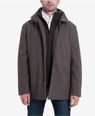 London Fog Men's Wool-Blend Layered Car Coat