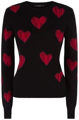 SET Heart Jacquard Sweater