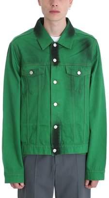 Martine Rose Green Denim Jacket