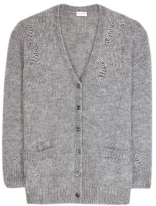 Saint Laurent Mohair-blend cardigan