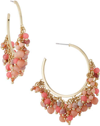 Lydell NYC Beaded Shaky Hoop Earrings