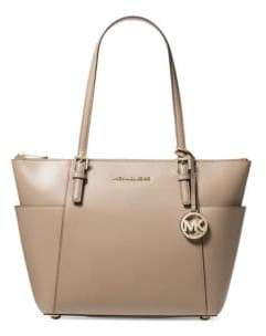 MICHAEL Michael Kors Jet Set Textured Leather Tote