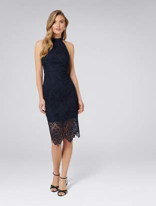 b1df6079c1 Forever New Beverley Lace Pencil Dress - Navy - 4