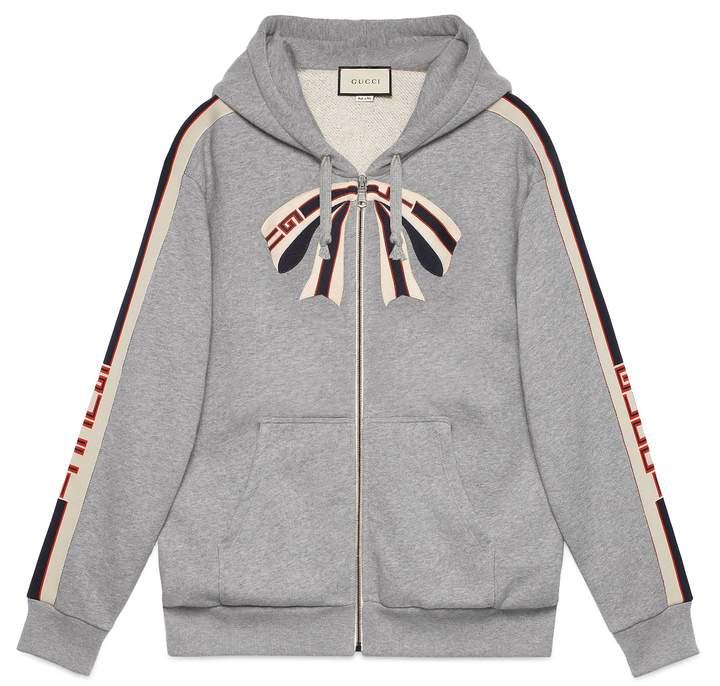 Gucci stripe zip up sweatshirt