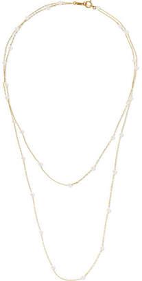 Mizuki 14-karat Gold Pearl Necklace