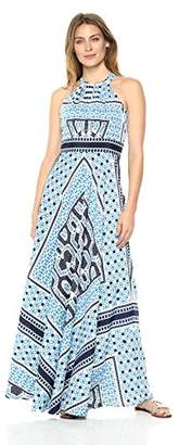 Eliza J Women's Printed Halter Maxi Dress