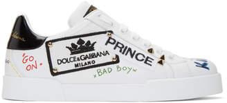 Dolce & Gabbana White Portofino Prince Low-Top Sneakers