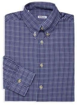 Kiton Checkered Long-Sleeve Dress Shirt
