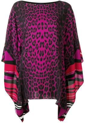 Class Roberto Cavalli multi-print blouse
