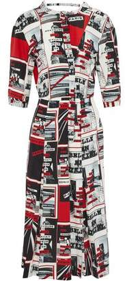Sonia Rykiel Printed Silk Crepe De Chine Dress