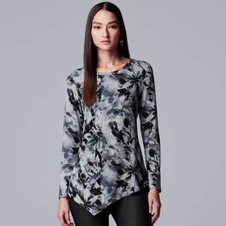 Vera Wang Petite Simply Vera Asymmetrical Top