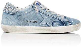 Golden Goose Women's Women's Superstar Distressed Jersey Sneakers $530 thestylecure.com