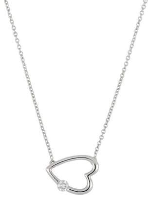 Bony Levy 18K White Gold Diamond Sideways Heart Pendant Necklace - 0.07 ctw