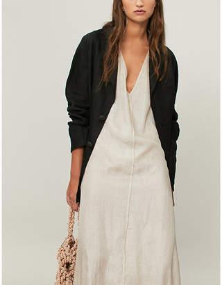 AGANOVICH Pleated back linen jacket