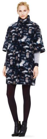 Club Monaco Naomi Patterned Wool Coat