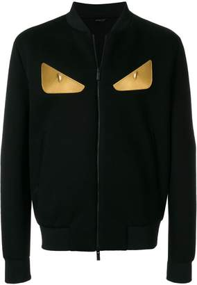 Fendi Bag Bugs zipped sweatshirt