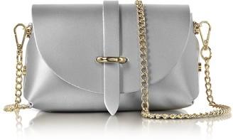 Le Parmentier Caviar Metallic Leather Mini Shoulder Bag