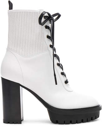 Gianvito Rossi Leather & Eco Stretch Martis Platform Ankle Boots