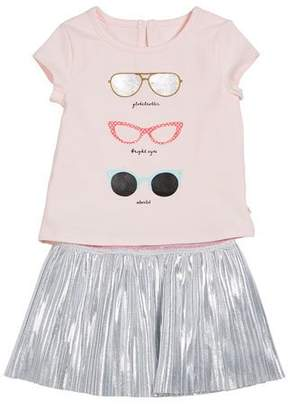 Kate Spade Sunglasses Tee W/ Metallic Skirt, Size 12-24 Months