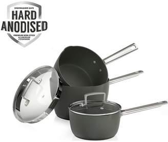Tower Pro Hard Anodised 3-Piece Saucepan Set