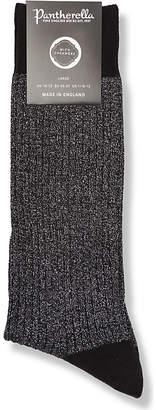 Pantherella Mens Black Sparkle Socks