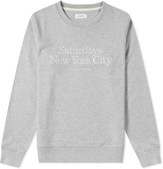 Saturdays NYC Bowery Embroidered Miller Standard Sweat