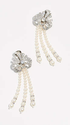Ben-Amun Crystal and Imitation Pearl Earrings
