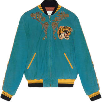 Embroidered corduroy bomber jacket $6,950 thestylecure.com