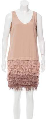 Brunello Cucinelli Fringe Mini Dress