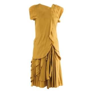 Bottega Veneta Gold Silk Dress for Women