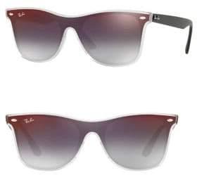 Ray-Ban 41MM Mirrored Wayfarer Sunglasses