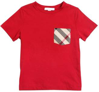 Burberry Cotton Jersey T-Shirt W/ Check Pocket