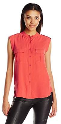 BCBGMAXAZRIA Women's Jennan Cargo Pocket Top