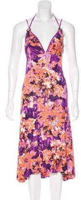 Just Cavalli Floral Halter Dress