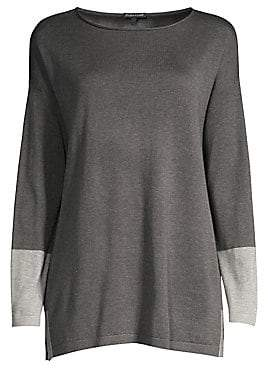 Eileen Fisher Women's Colorblock Knit Tunic