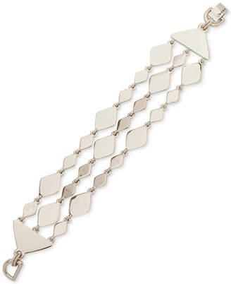 DKNY Gold-Tone Sculptural Triple-Row Flex Bracelet, Created for Macy's