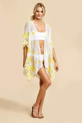 Miguelina Gaby Tropical Scallop Lace Coverup