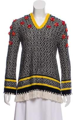 Tory Burch Embellished Knit Sweater