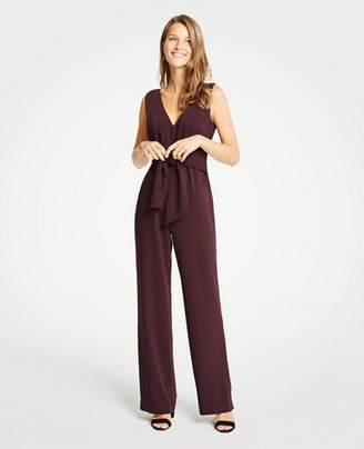 Ann Taylor Petite Tie Front Jumpsuit
