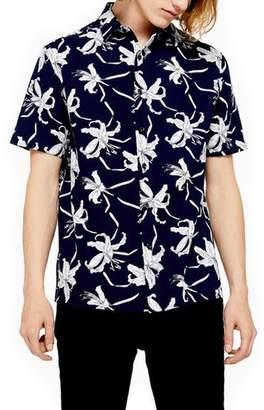 Topman Skinny Fit Floral Shirt