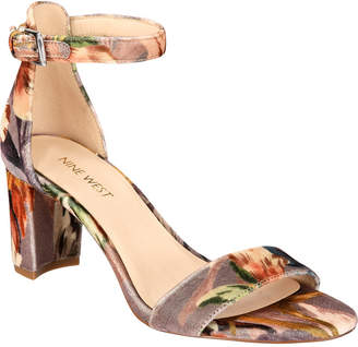 Nine West Pruce Block-Heel Sandals Women's Shoes