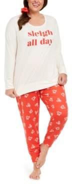 Macy's Jenni Printed Pajamas & Scrunchie Set, Created For