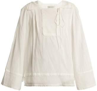DAY Birger et Mikkelsen LEE MATHEWS Carly pleated cotton-muslin blouse