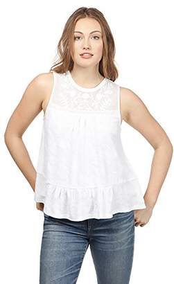 Lucky Brand Women's Tiered Jacquard Tank TOP