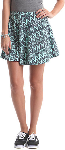 Nollie Mint Tribal Skater Skirt