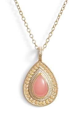 Anna Beck Guava Quartz & Moonstone Pendant Necklace
