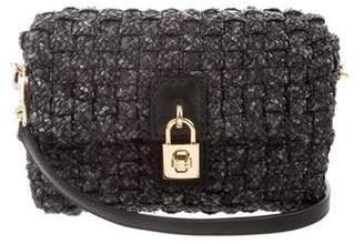 Dolce & Gabbana Miss Dolce Straw Crossbody Bag